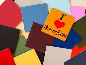 I love the office! Sign in words & letters - for office & busine
